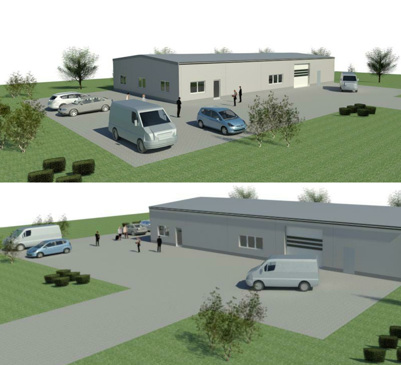 Aumer Gewerbebau / Musterhalle Business 450, Visualisierung