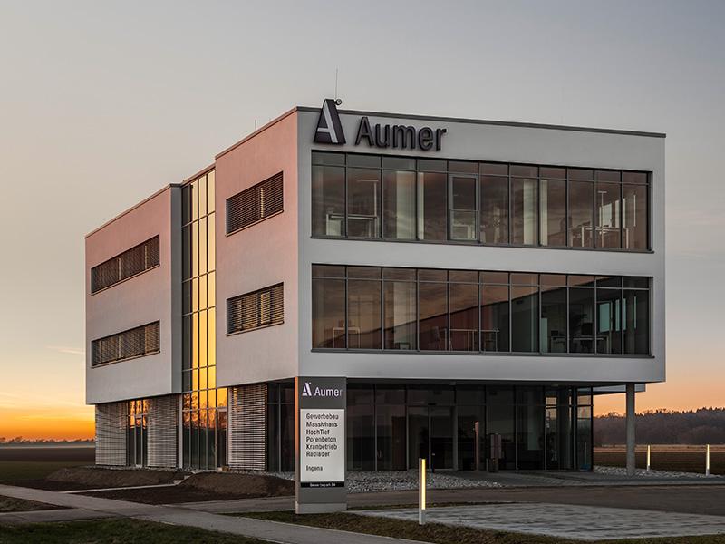 Referenz Gewerbebau Firmenzentrale Aumer Group 2016