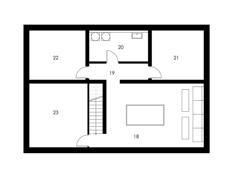 Aumer Massivhaus, Designhaus Schambeck, Grundriss Keller