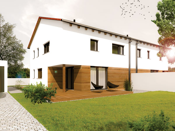 Aumer Massivhaus Typ Doppelhaus, Mehrfamilienhaus