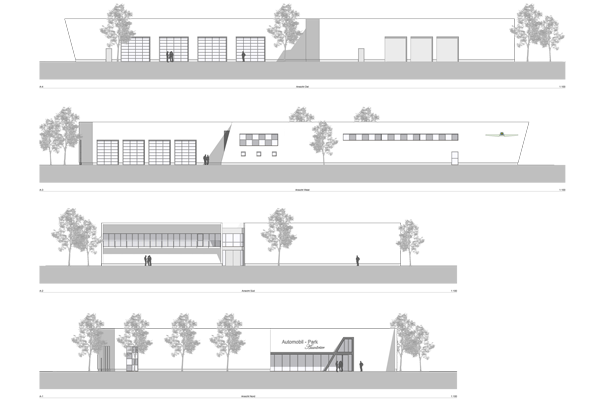 Automobilpark Auwärter, Pilsting - Planung