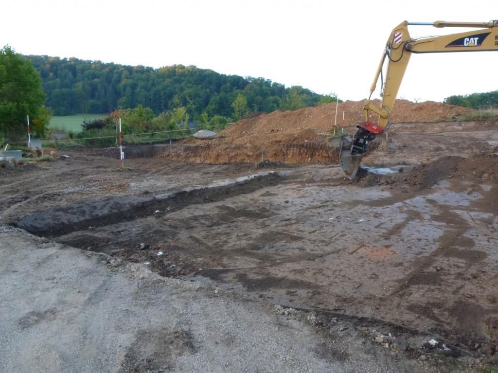 Aumer Massivhaus - Bauablauf - Aushub der Baugrube