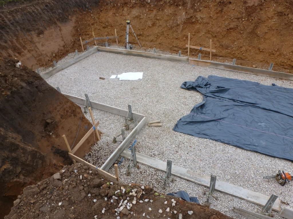 Aumer Massivhaus - Bauablauf - Schnurgerüst und Einschalung