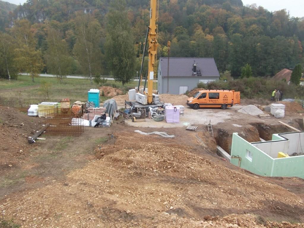 Aumer Massivhaus - Bauablauf - Baustelleneinrichung
