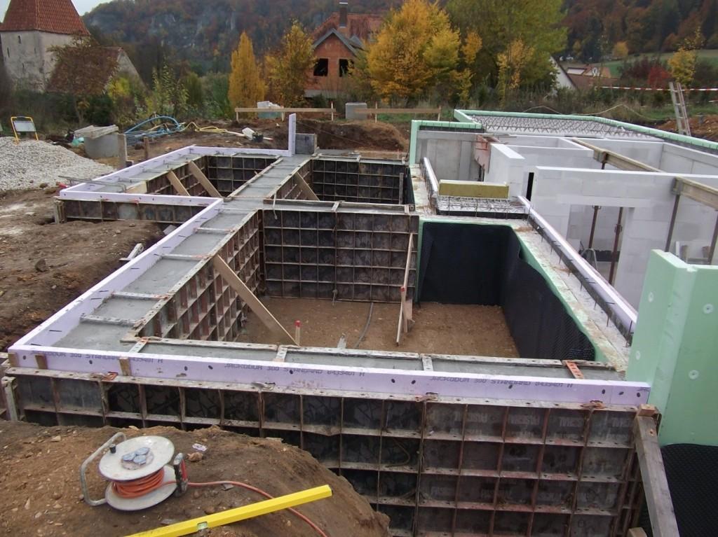 Aumer Massivhaus - Bauablauf - Erstellung Stahlbetonkeller