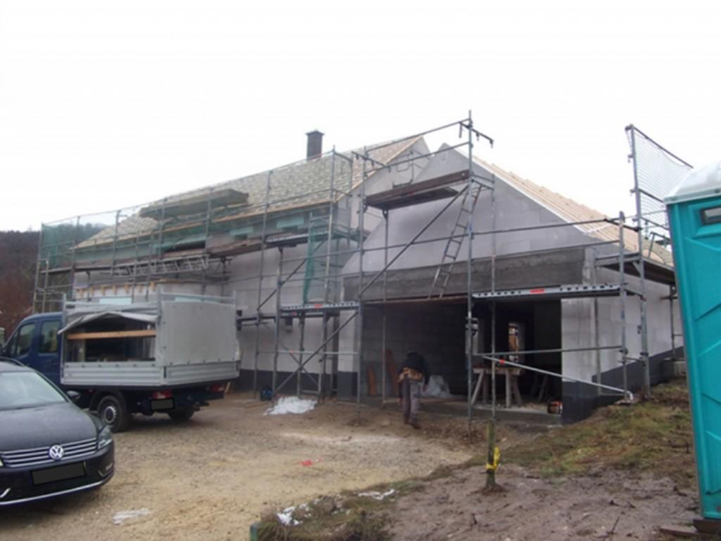 Aumer Massivhaus - Bauablauf - Dachstuhl