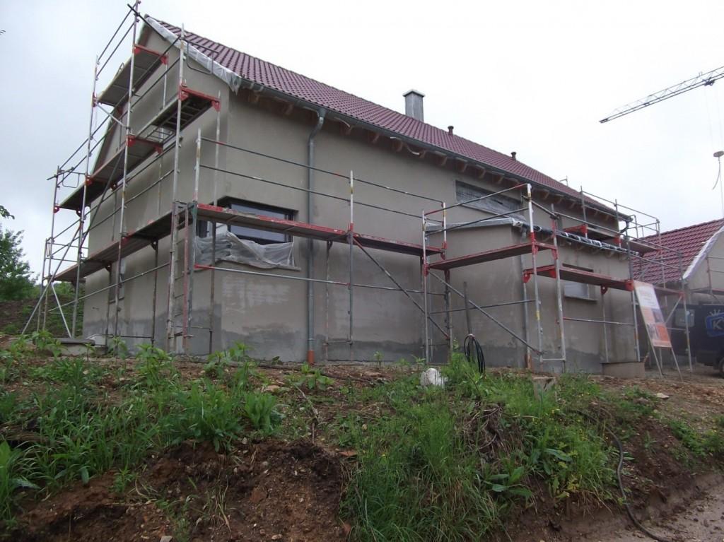 Aumer Massivhaus - Bauablauf - Außenputz