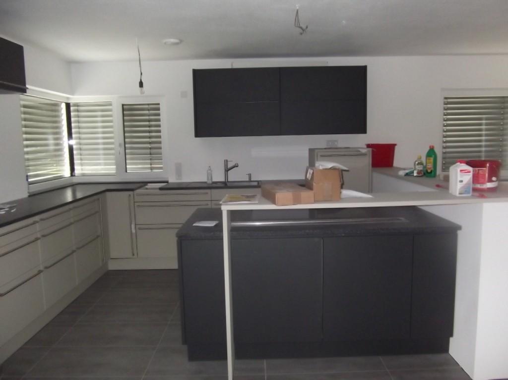 Aumer Massivhaus - Bauablauf - Kücheneinbau