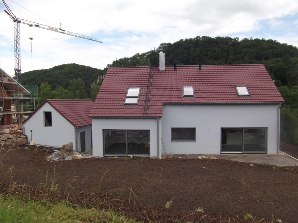 Aumer Massivhaus - Bauablauf - Außenanstrich