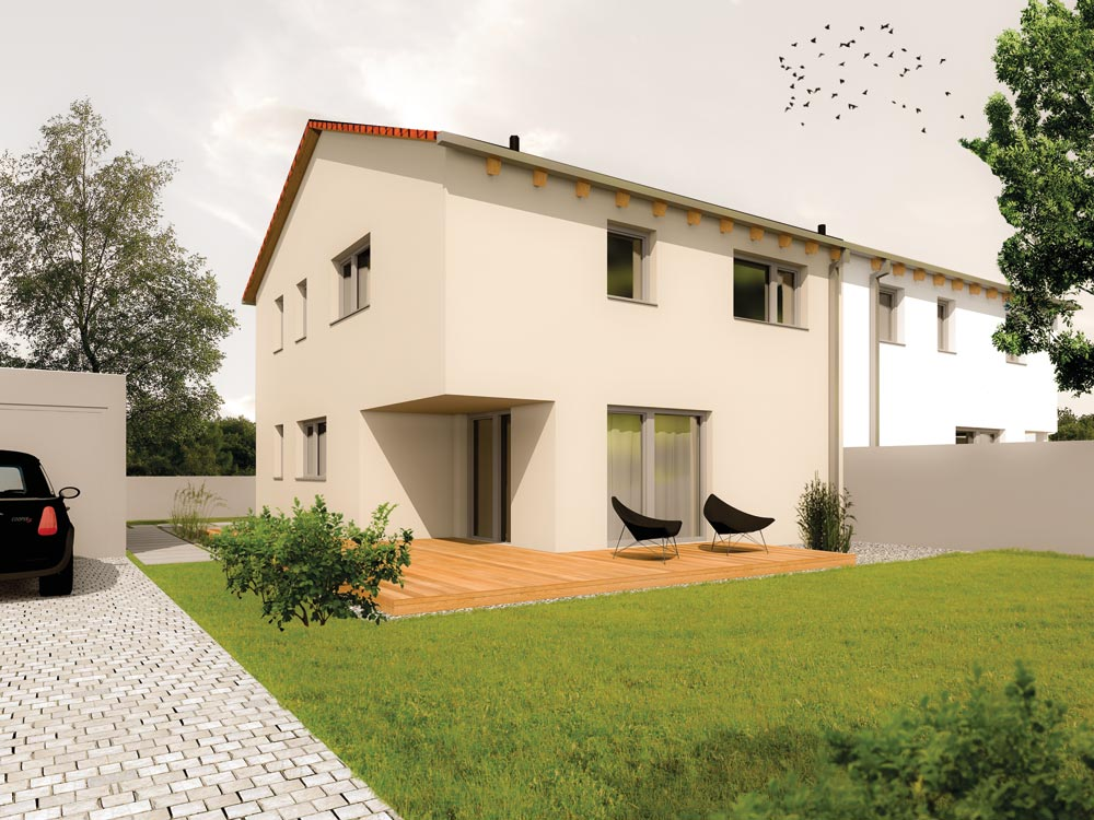 Aumer Massivhaus Typ Doppelhaus Variante