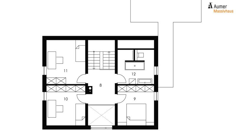 Aumer Massivhaus Typ Raumwunder 132 Grundriss Dachgeschoss