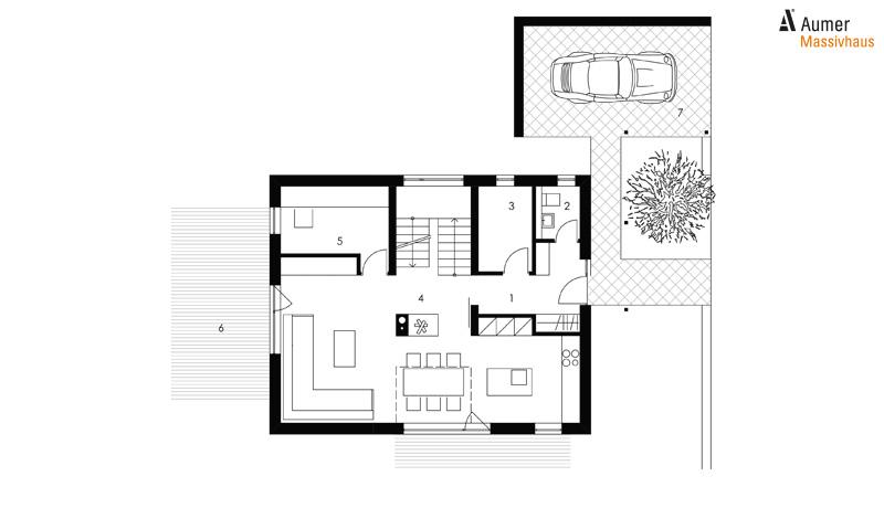 Aumer Massivhaus Typ Raumwunder 132 Grundriss Erdgeschoss
