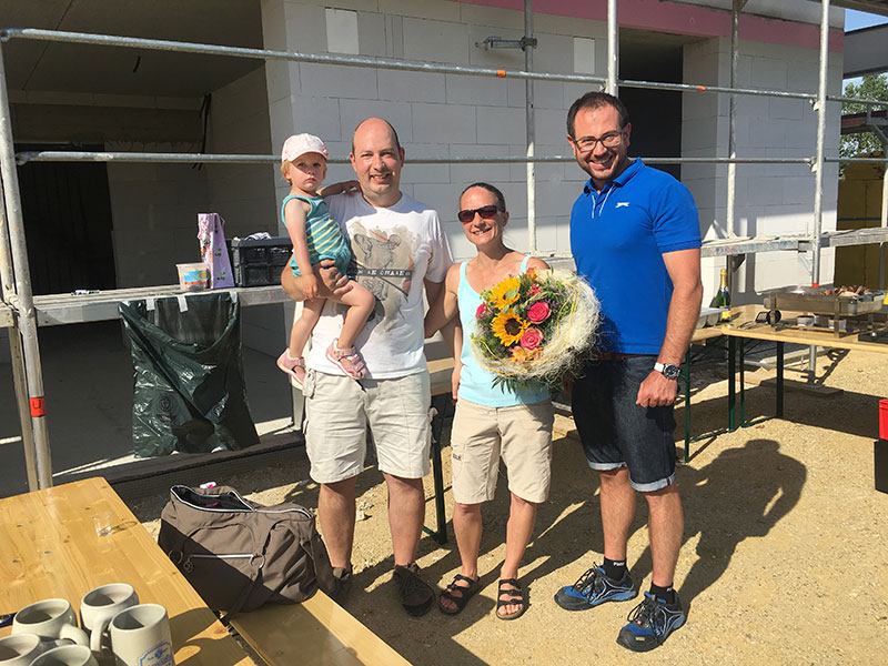 Aumer Massivhaus - Richtfest 2017 in Siegenburg