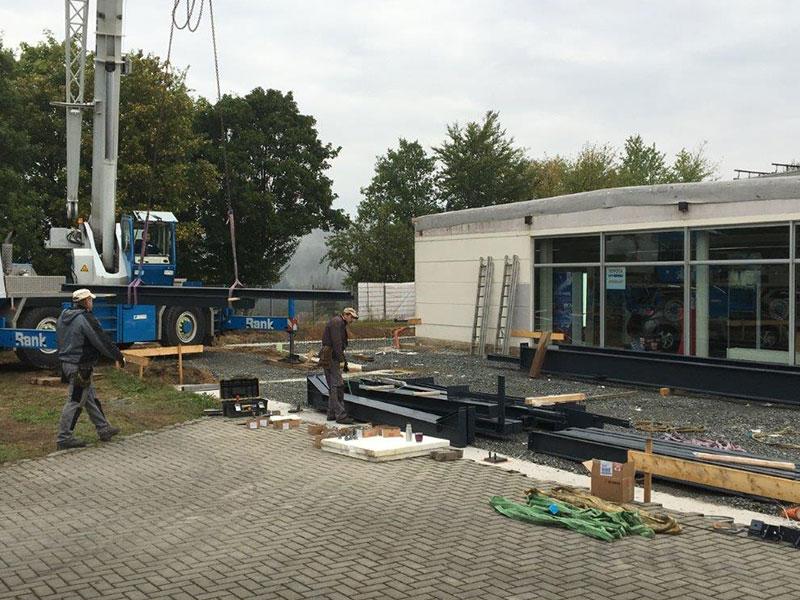 Bauvorhaben Autohaus Kreinhöfer, Aumer Stahlbau | Hallenbau