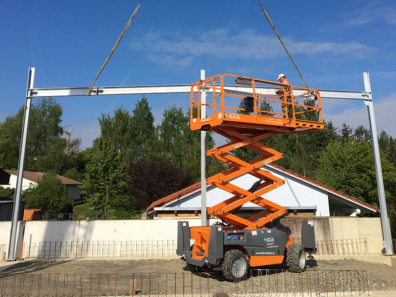 Schindler Karosserie und Lack - Bauvorhaben Aumer Stahlbau | Hallenbau