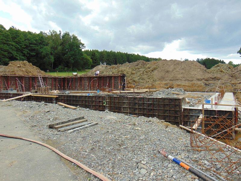 Neubau einer Unterstellhalle in Schammersrieth