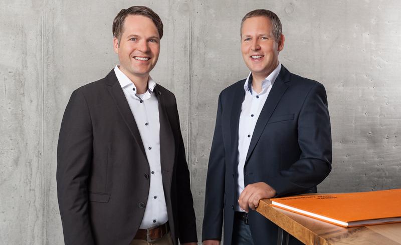 Die Geschäftsführer von Aumer Massivhaus: Ernst-Matthias Aumer, Michael Obermeier