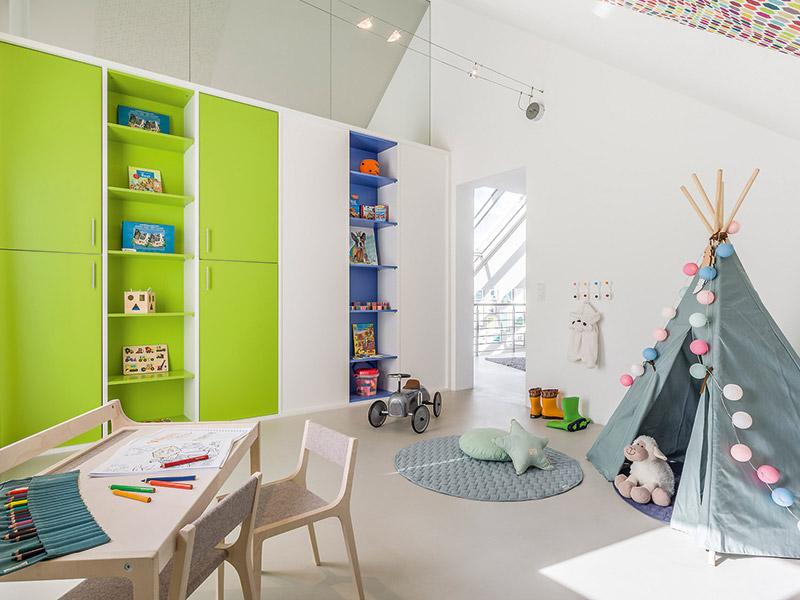 Das Kinderzimmer im Musterhaus von Aumer Massivhaus