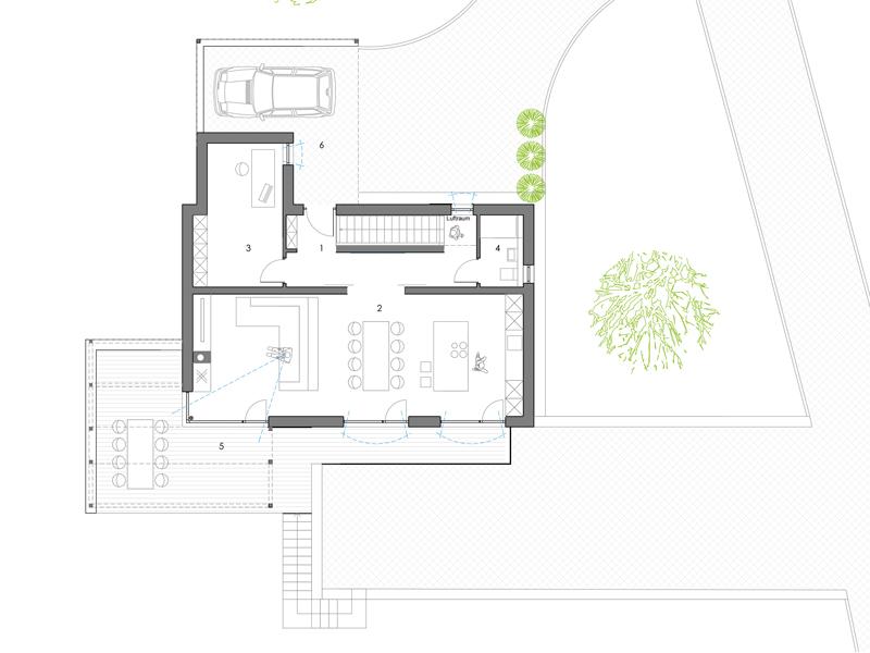 Familienhaus Landleben, Grundriss Erdgeschoss