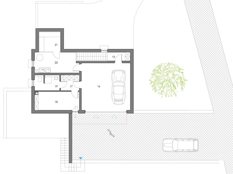 Familienhaus Landleben, Grundriss Kellergeschoss