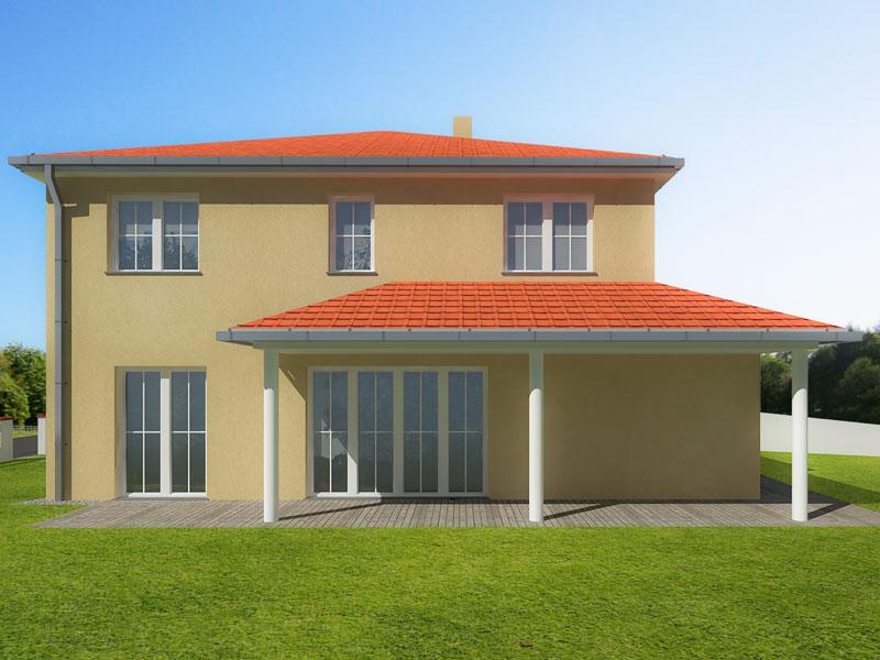 Toskana Haus 155, Seitenansicht