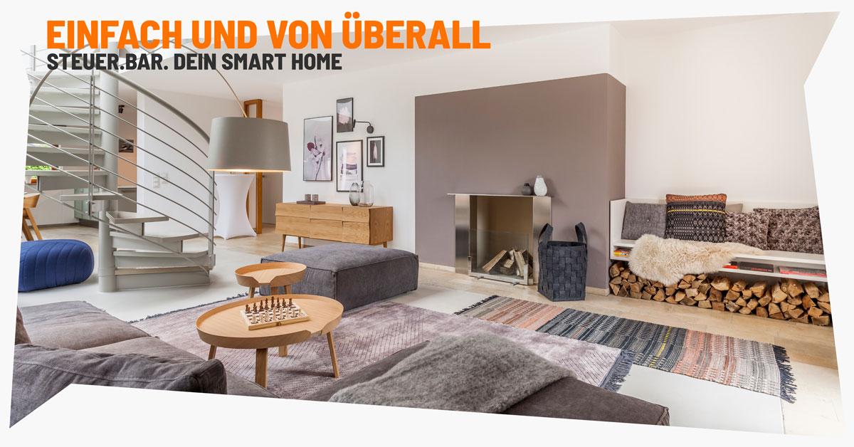 Komfortabel und einfach. Smart-Home-Funktionen von überall steuern