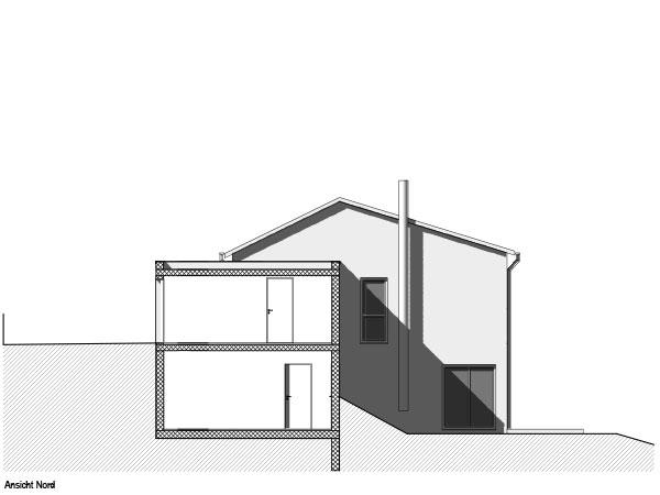 Aumer Massivhaus, Haus des Monats Mai 2020, Ansicht Nord