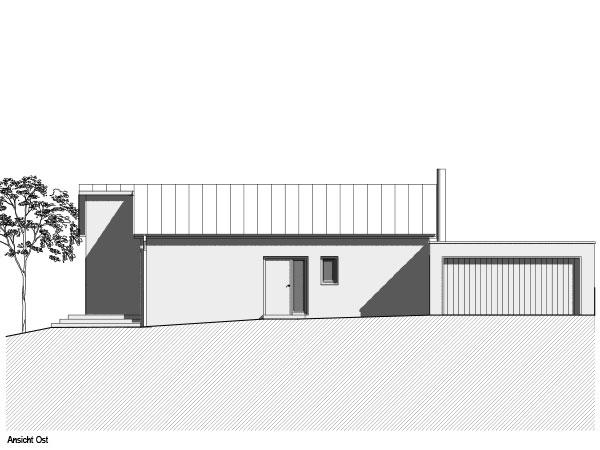 Aumer Massivhaus, Haus des Monats Mai 2020, Ansicht Ost