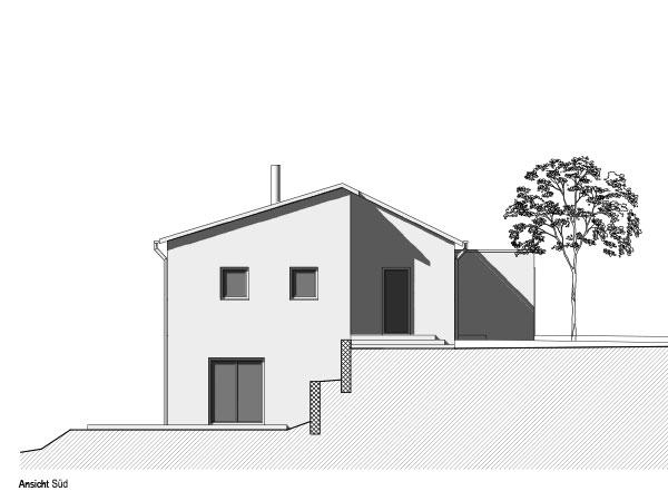 Aumer Massivhaus, Haus des Monats Mai 2020, Ansicht Süd