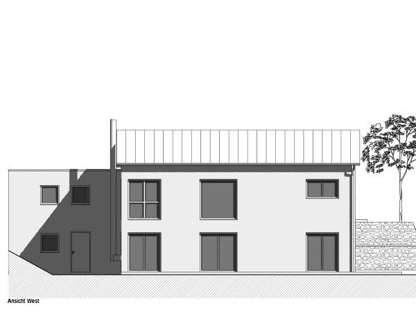 Aumer Massivhaus, Haus des Monats Mai 2020, Ansicht West