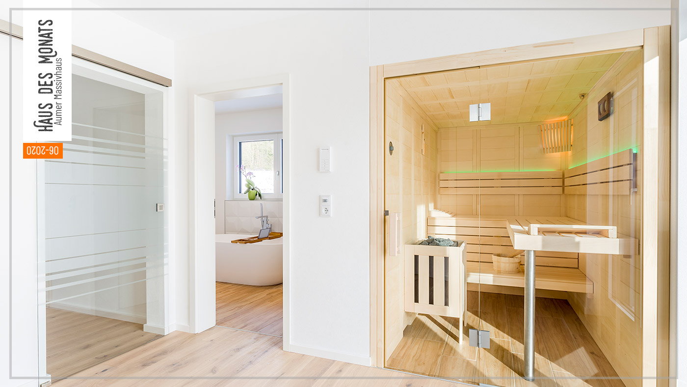 Wohnraumtraum: Haus des Monats Juni 2020, Sauna und Bad