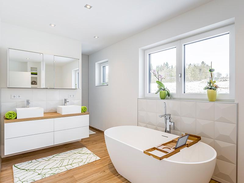 Aumer Massivhaus, Haus des Monats Juni, Bad mit Badewanne