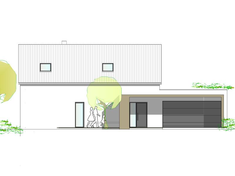 Aumer Massivhaus, Haus des Monats Juli 2020, Ansicht Osten