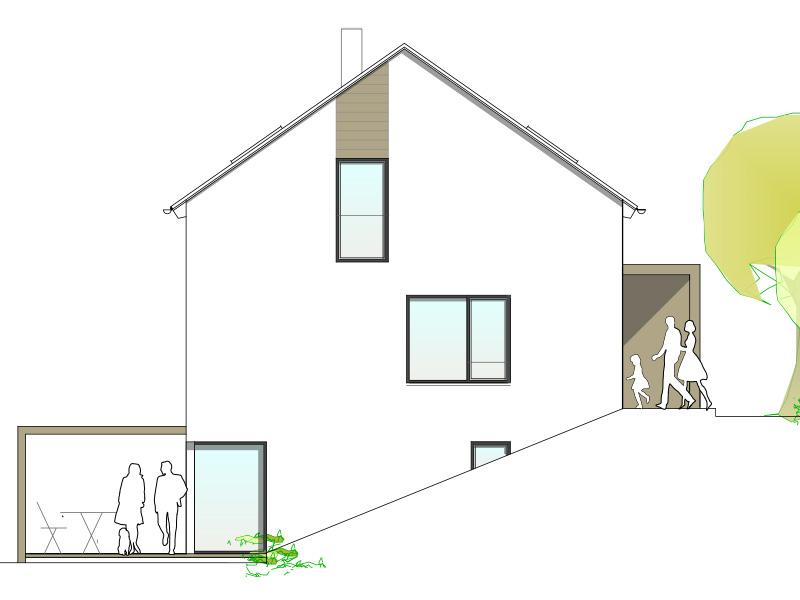 Aumer Massivhaus, Haus des Monats Juli 2020, Ansicht Süden