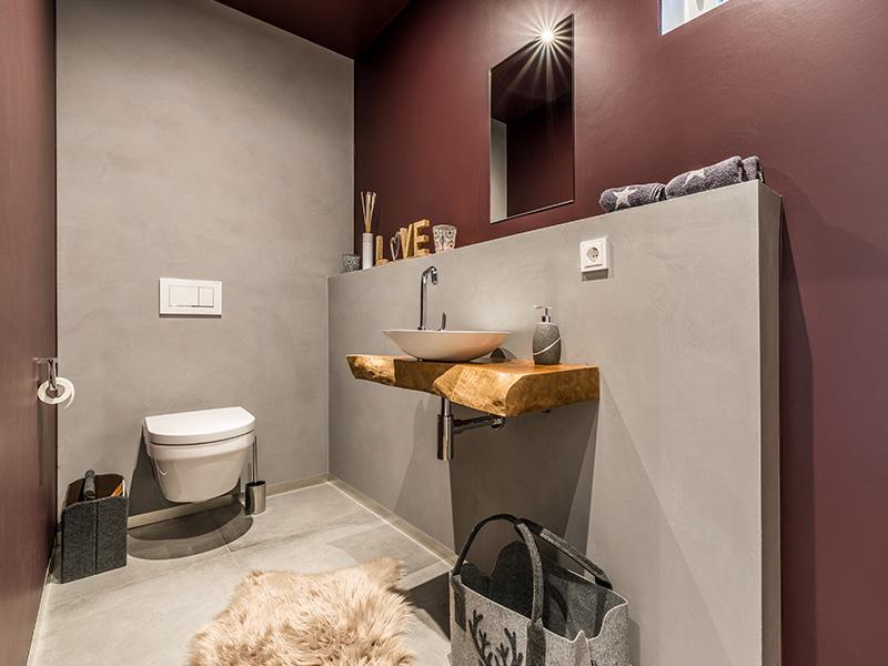 Gäste WC Aumer Massivhaus Haus des Monats