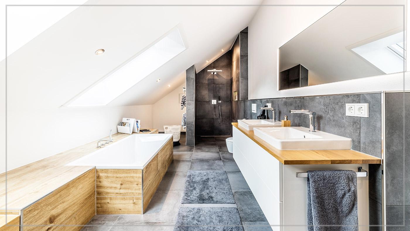 Traumbad, Aumer Massivhaus, Haus des Monats Juli 2020