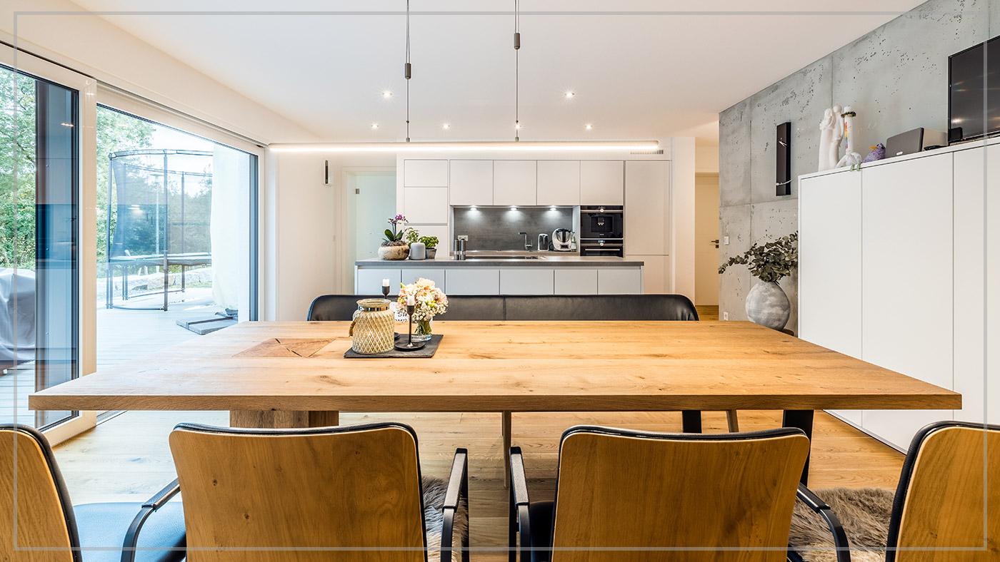 Haus des Monats Juli 2020, Wohnbereich, Aumer Massivhaus